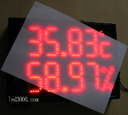large size indoor temperature and humidity led display,led clock,led - Home Decor - Photo 4