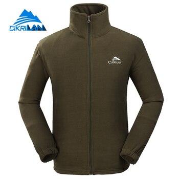New Hiking Thermal Windbreaker Fleece Jacket Men Outdoor Sports Veste Homme Camping Climbing Coat Breathable Jaqueta Masculina