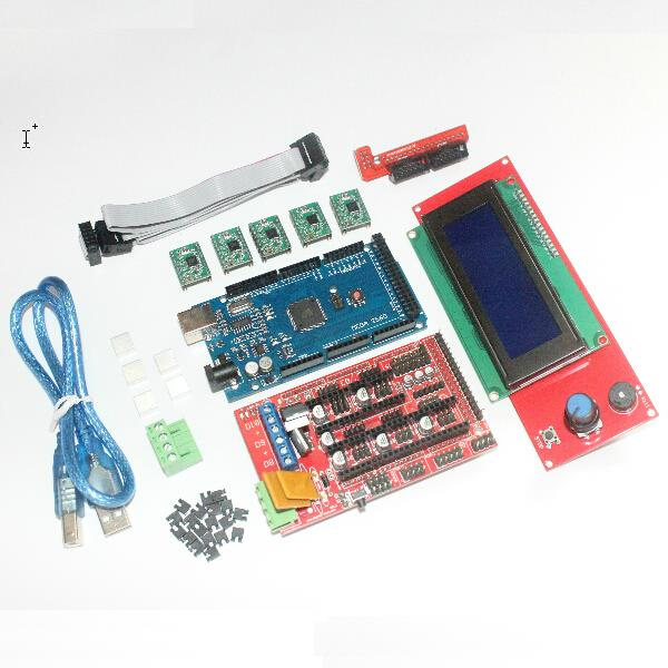 CNC 3D Printer Kit for Arduino Mega 2560 R3 Development Board + RAMPS 1.4 Controller + LCD 2004 + 5x A4988 Stepper Motor Driver