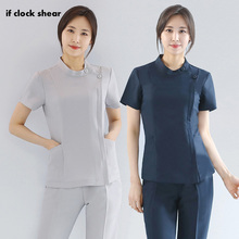 slim fit overalls beauty salon beautician work clothing health