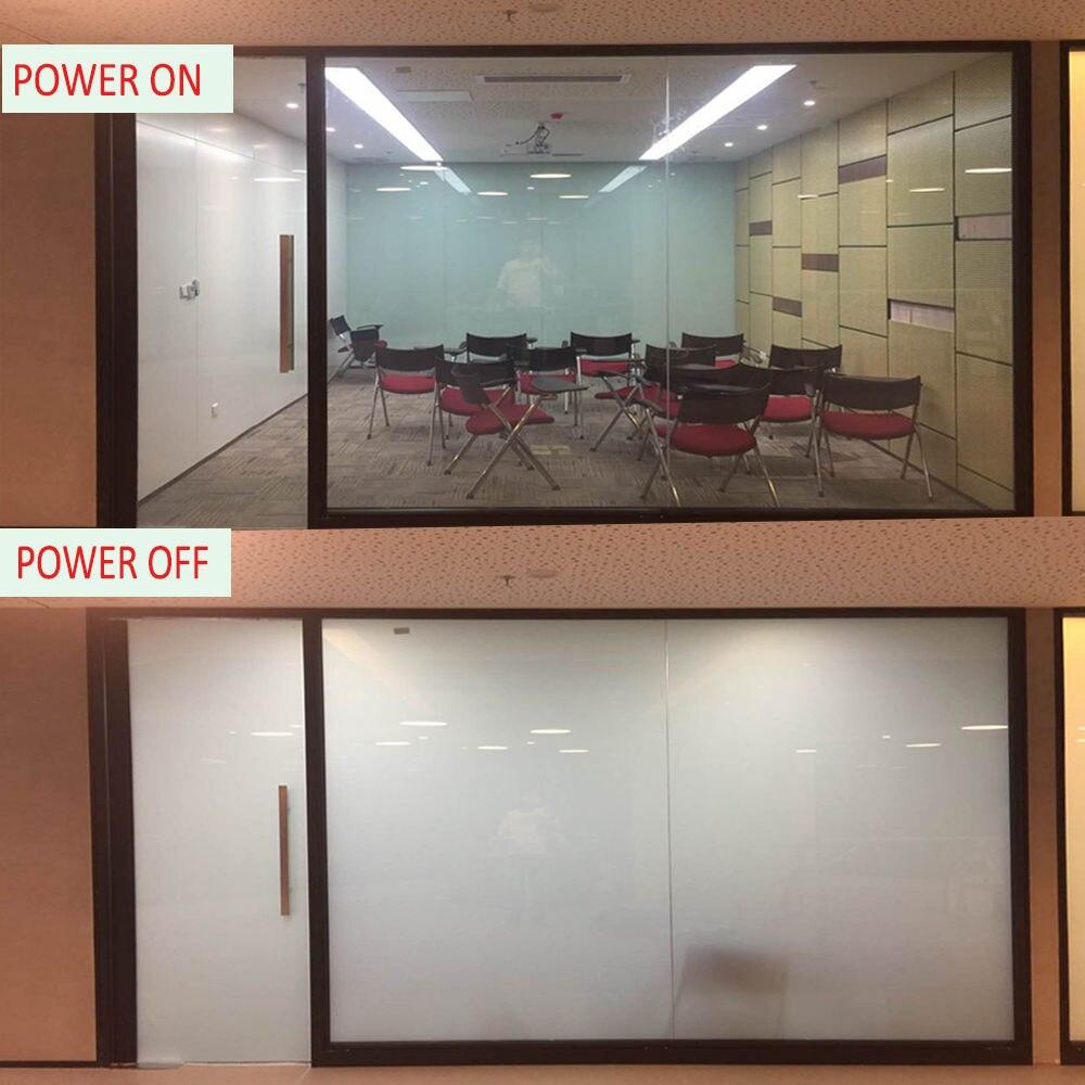 Electric Self-adhesive PDLC Film Smart Glass Window Door Tint Smart Film 12