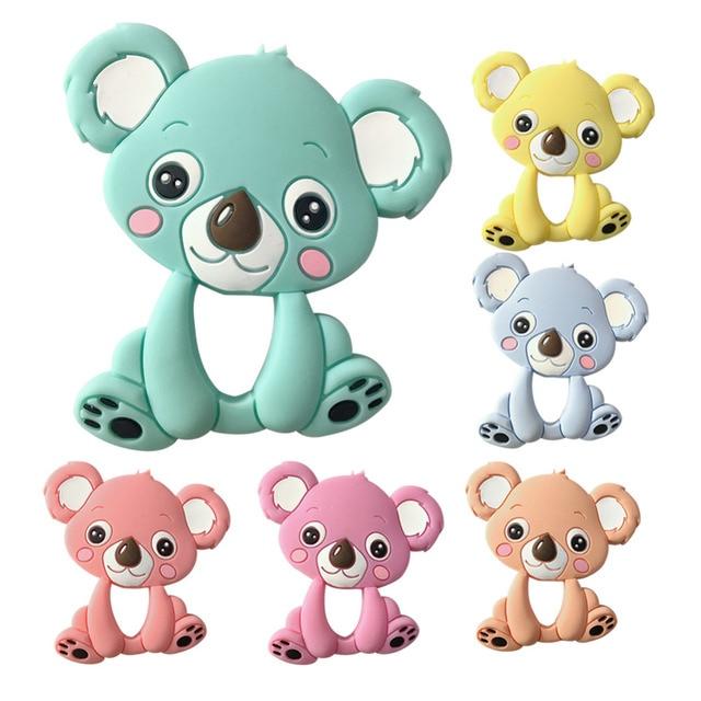 Bebé recién nacido lindo Koala teether masticar juguete dibujos ...