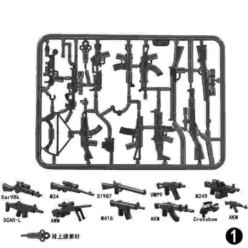 Military Ww2 Special Soldiers Sniper Guns SWAT Police Dogs Action Figures Weapons Compatible Lockings Model Building Blocks Toys