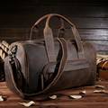 vintage Crazy Horse leather men travel bag luggage bag big genuine leather travel backpack Large Men duffle bag weekend 7015