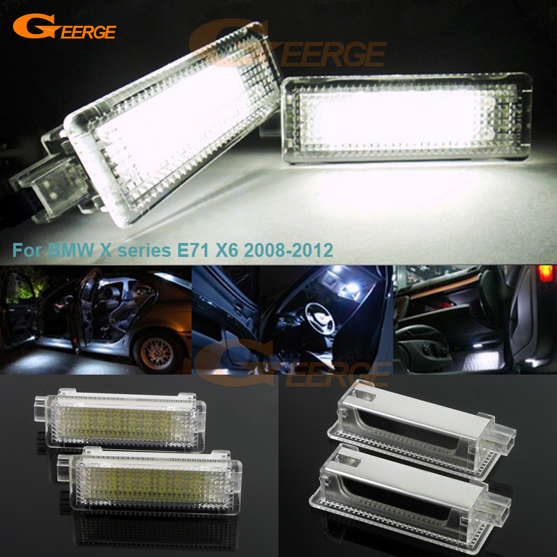For BMW X series E71 X6 2008-2012 Excellent LED Courtesy Footwell Under Door Light No Error