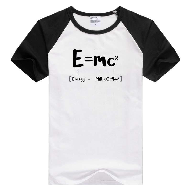 E MC2 MILK X COFFEE Short Sleeve Casual Men Women T-shirt Comfortable Tshirt Cool Print Tops Fashion Tees GA976