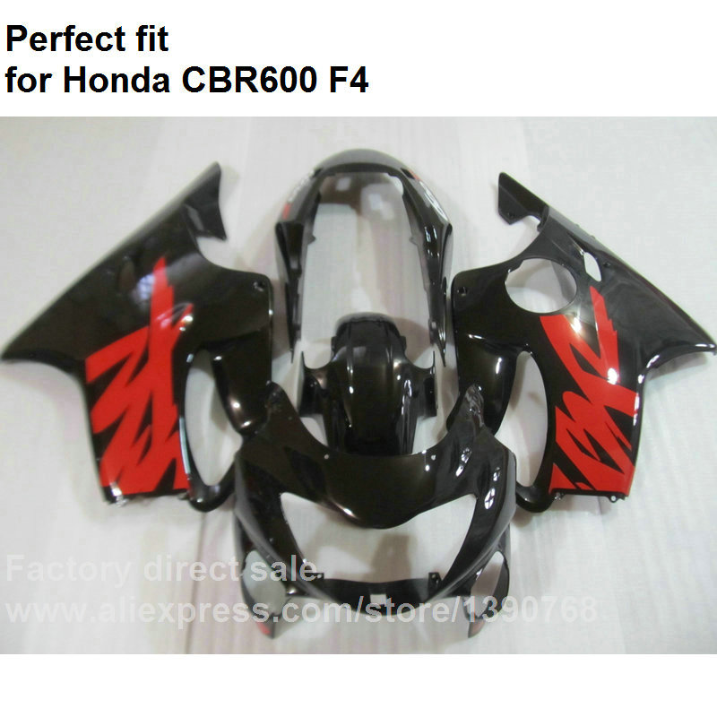 Высокое качество ABS обтекатели для Хонда ЦБР 600 Ф4 1999 2000 черный набор зализа CBR600 F4 В OL44