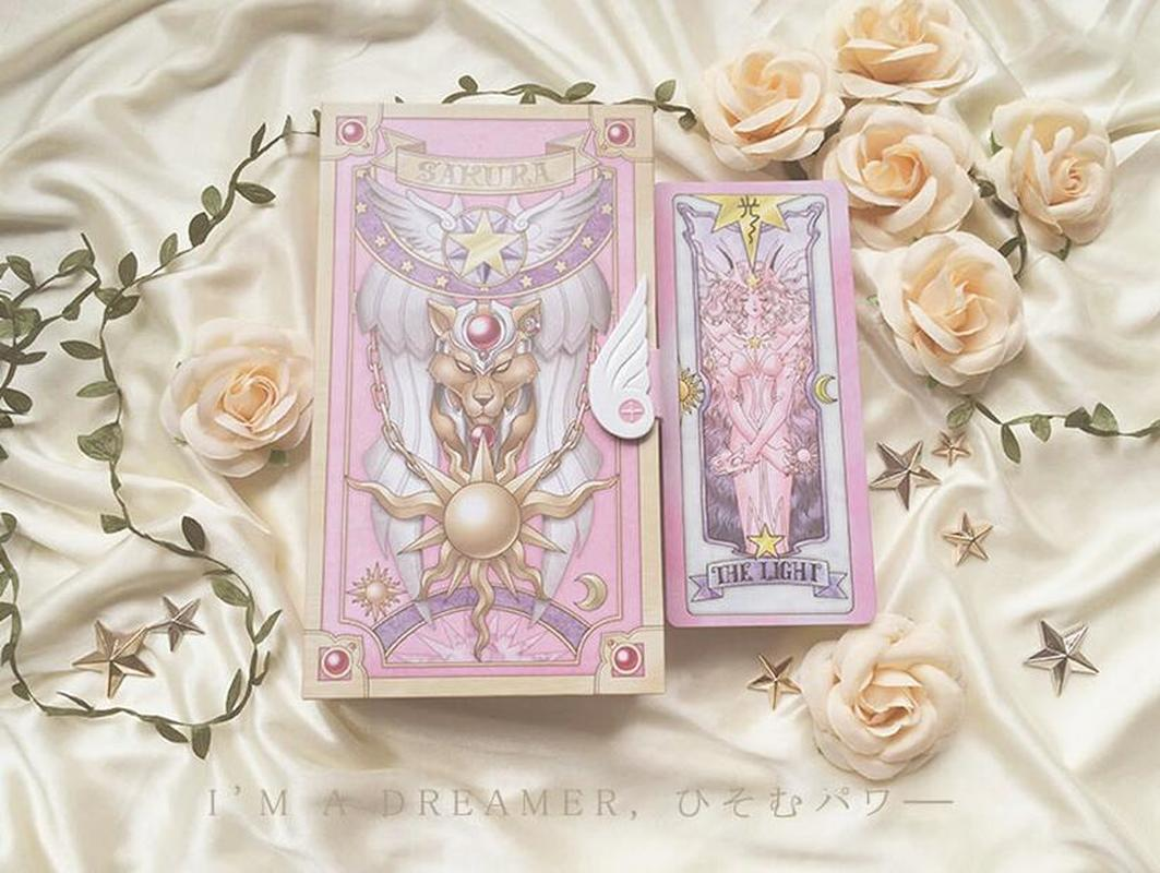 Novelty & Special Use New Card Captor Sakura 56 Piece Cards With Pink Clow Magic Book Set New In Box Costumes & Accessories