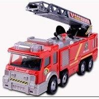 Fireman Sam Toy Car Model Small Music Lights Fire Truck Life Saving Lada Samara Educational Water