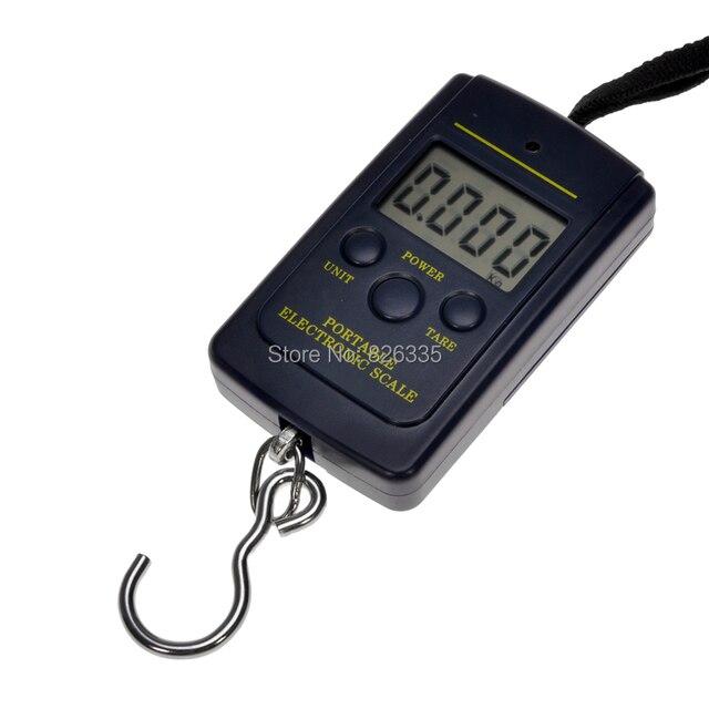 P ocketอิเล็กทรอนิกส์ดิจิตอลขนาด0.01กิโลกรัม* 40กิโลกรัมแขวนกระเป๋าน้ำหนักสมดุลตุลสีดำ