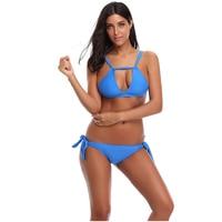 swimsuit summer new Hot sexy pure color women bikini set 2018 bandage swimsuit brazilian multi color swimwear bikini Size S 2XL