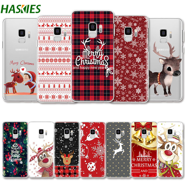 Merry Christmas for Samsung Galaxy A6 A8 2018 J4 J7 2017 J6 2018 S8 S9 Plus S4 S5 S6 S7 Edge Case for Note 8 9 Case Soft TPU