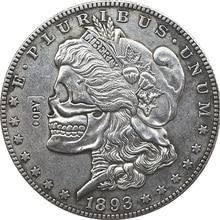 Хобо никель два лица 1893 сша Морган доллар Монета КОПИЯ