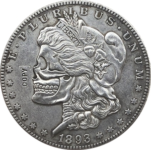 Hobo Nickel two face 1893 USA Morgan Dollar COIN COPY(China)