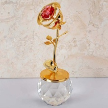 Mother's Day Crystal Rose Valentine's Day Gifts Home Garden Decoration Flower Crafts Figurines Miniatures Rose недорого