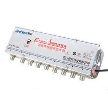 AC 220V 50Hz 8 Way CATV Signal Amplifier 1-in-8 out CATV TV VCR Antenna Signal Amplifier Booster Splitter 20dB Mayitr цена и фото