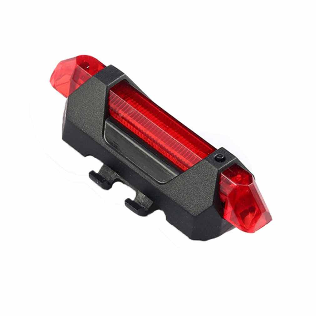 Portable USB Rechargeable Rear Light Cycling Led Bike Bicycle Tail Rear Safety Warning Light Taillight Lamp Super Bright