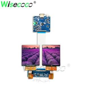 Экран OLED ips 3,81 дюйма 1080x1200, 90 Гц, 3D VR головное крепление, дисплей с HDMI micro USB к MIPI плате 500 нитей
