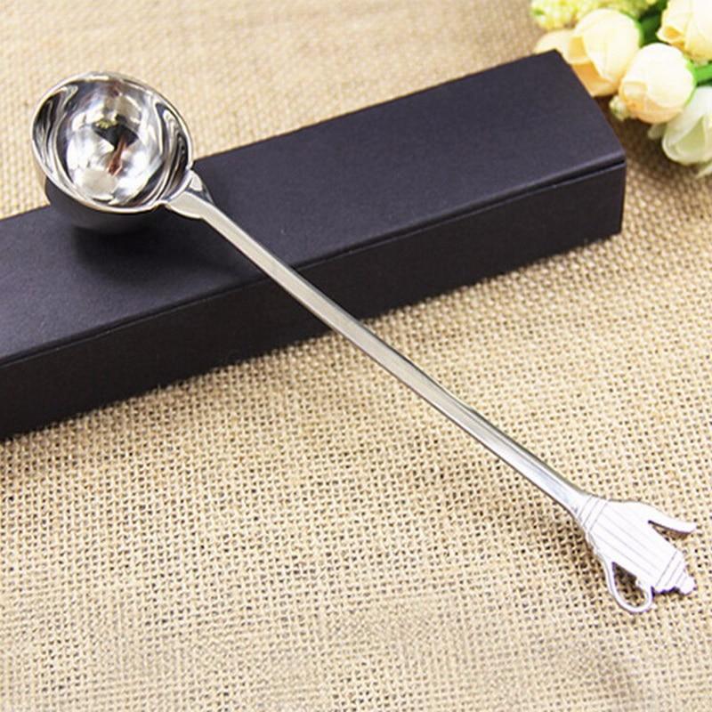 87eca72068c Grosso 304 grãos de cozimento balança de cozinha colher de medição cozinha  Alemã do aço inoxidável colher longa handel