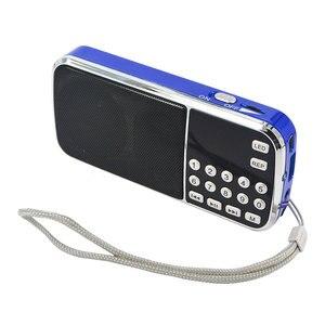 Image 4 - Kebidu المحمولة L 088 مايكرو SD TF FM راديو ايفي المتكلم مصغرة MP3 مشغل الصوت مصباح يدوي مكبر للصوت مصباح ليد جيب