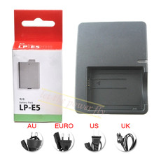 LPE5 LP-E5 Rechargeable Battery + LC-E5E LC-E5 Charger pack For Canon EOS 450D 500D 1000D EOS Kiss X2 EOS Kiss X3 Camera