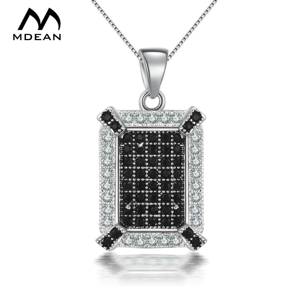 Mdean الأبيض لون الذهب والمجوهرات aaa الزركون المجوهرات أزياء الزفاف قلادة المعلقات للنساء MSN025