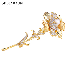 SHDIYAYUN 2019 Pearl Brooch For Women Guality Flower Brooches Pins Natural Freshwater Fine Jewelry Accessories Corsage