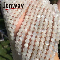 Natural Round White MoonStone Beads 4mm 5A For Jewelry Making 15inches DIY Jewellery necklace bracelet Wholesale