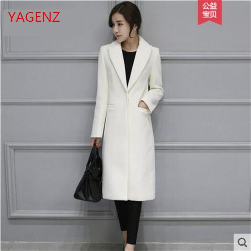 Female Imitation Woolen Coats High Quality Long Winter Coat Women White Coat Of Women's Cashmere Qualty Fabrlcs No Pilling K3716