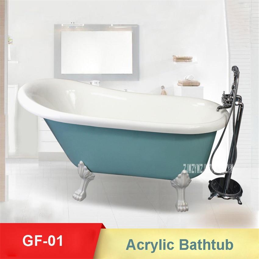 GF-01 European-style Bathtub High-quality Acrylic Freestanding Bathtub Double Insulation Household Portable Bathroom Bathtub