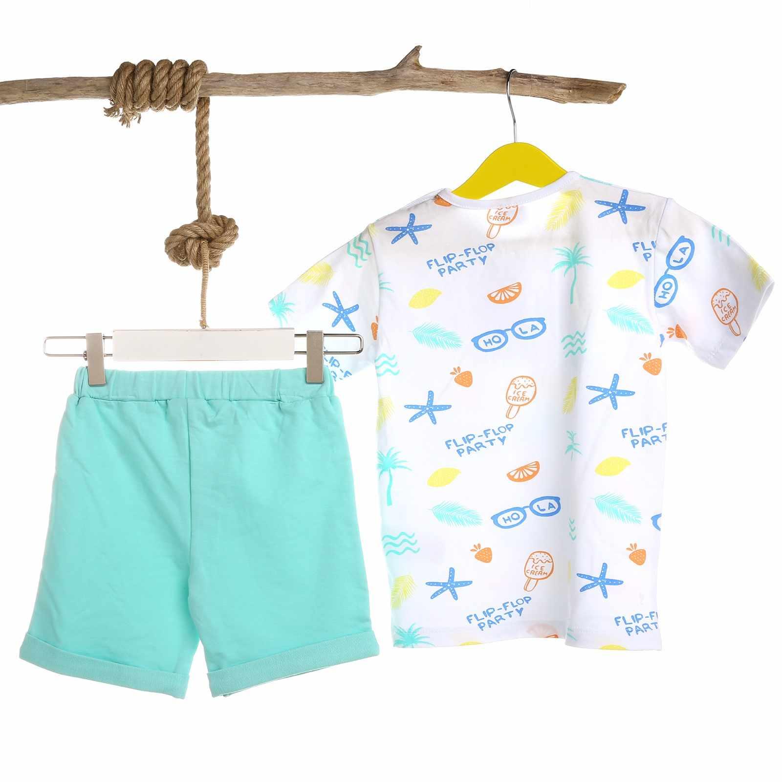 Ebebek Luggi เด็กทารกสับปะรด Tshirt สั้น