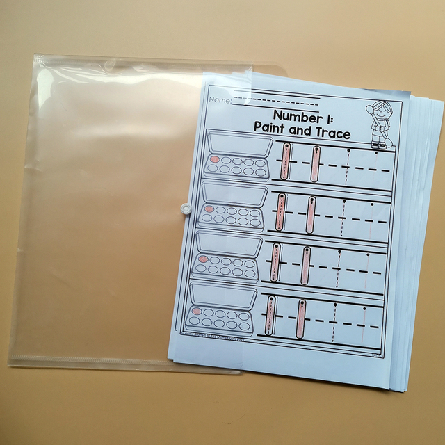 Kindergarten Math Numbers 1-10 Homework Paper English Learning Material Practice Reading Book Kids Montessori Child Workbook 2