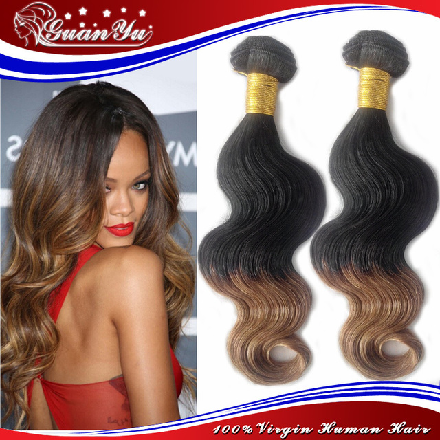 Super Deals Ombre Chinese Hair Extensionsdark Root Human Hair1b 27