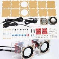 diy electronic 3W Speaker making kit with Transparent shell 2.36inch 1 Mini computer audio electronics diy kit