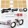 Diy eletrônico 3 w alto-falante fazendo kit com escudo transparente 2.36 polegada 1 mini computador de áudio eletrônica kit diy