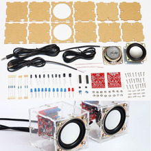 diy electronic 3W Speaker making kit with Transparent shell 2.36inch 1 Mini computer audio