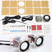 diy electronic 3W Speaker making kit with Transparent shell 2.36inch 1 Mini computer audio electronics diy kit