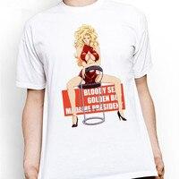 Forma Original Clássico Dos Homens do Algodão Menino de Ouro Sexy Madame Presidente Design de Moda Anime T-shirt Casual Cool Novidade