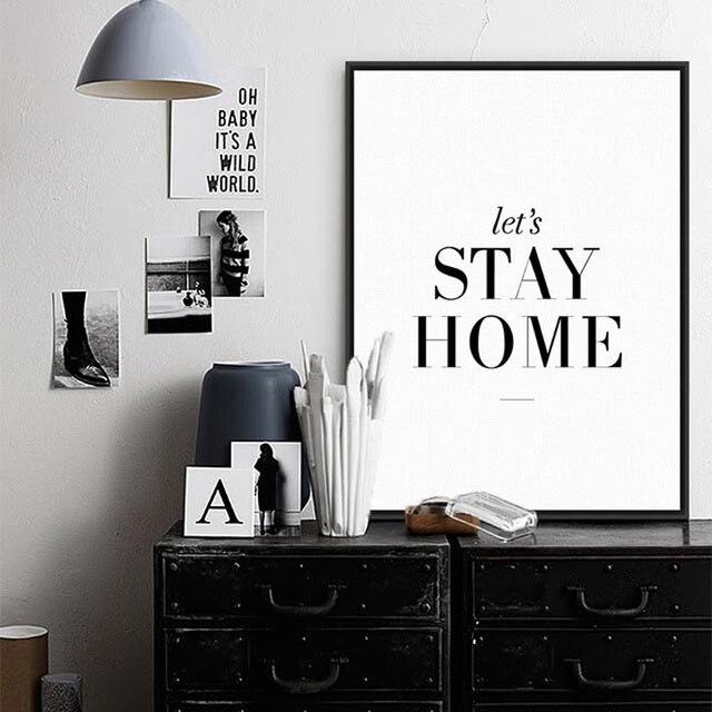 US $2.71 32% OFF|Wohnzimmer Dekoration Leinwand malerei Plakat Lesen Zimmer  Quote Kunstdrucke Und Poster Schlafzimmer Wandbilder Home Decor Kein ...