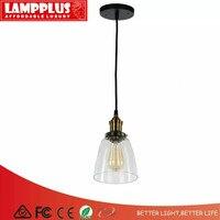 Lampplus скандинавские винтажные Лофт латунный прозрачный стеклянный абажур подвесной светильник подвесные потолочные светильники лампа для