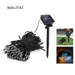 Светодиодный садовый фонарик с защитой от воды на открытом воздухе 7 м/12 м/22 м светодиодный солнечный свет Декор праздничный патио пейзаж Св...