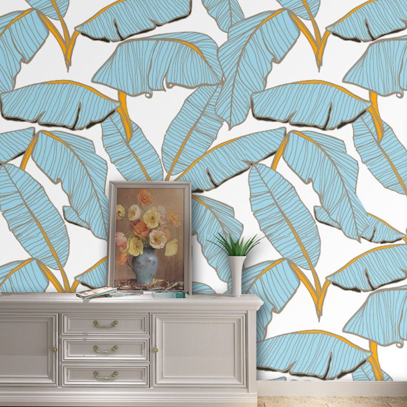Cutom 3D wall paper mural on the wall wholesale blue texture leaves wallpapers for office living room meeting room mural paper tuya art tuya cutom 3d wallpaper on the wall wholesale photo picture wall mural for the living room bedroom children s room