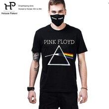 Dropshipping Men's Fashion Rock Band Pink Floyd Printed T-Shirt Short Sleeve Black Hip Hop Tees Top Casual T shirt