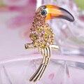 красный голубой эмалью токо тукан птиц мода новый 2014 up18k протяёки контактный позолоченные австрийских crystal для девушки женщины контакты хидёаб prata