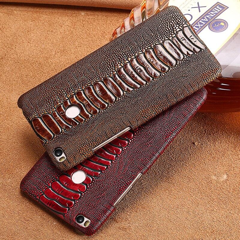 LANGSIDI marque coque de téléphone autruche pied grain demi-enveloppé étui de téléphone pour xiaomi mi Max 2 coque de téléphone à la main traitement personnalisé