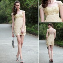 free shipping 2013 beige clairvoyant outfit exquisite handmade quality fashion gauze embroidery dress Cocktail Dresses woman wedding dress party dress clairvoyant outfit