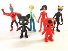 6pcs/lot Miraculous Ladybug Adrien Noir Agreste Cat Action Figure Toys with package