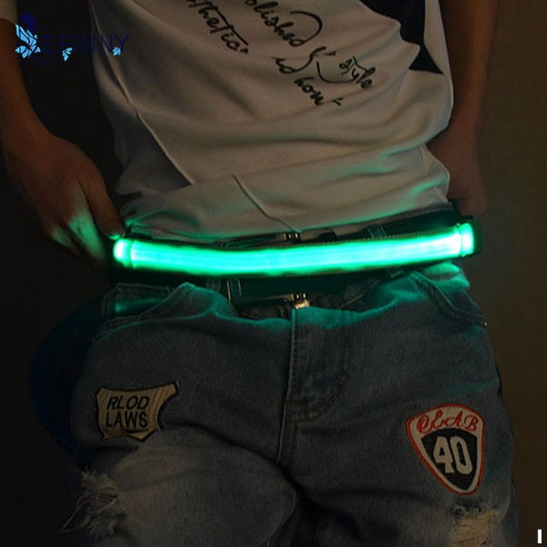 EFINNY 2017 LED Flashing Waistband Safety Reflective   Belt   Waistband