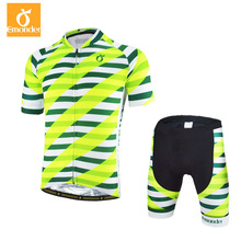 EMONDER Cycling jersey Set 2018 Summer Bicycle Short Sleeve Jersey Bib Short  Anti-UV Set For Men Italian Elastic Band