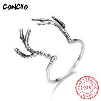 2018 Special Offer Limited Bands Classic None Animal Party Anel Feminino Concho Jewelry 925 Sterling Antlers Rings For Women